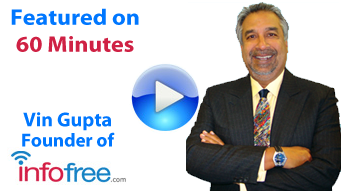Vin Gupta - Founder of Infofree, Featured on 60 Minutes